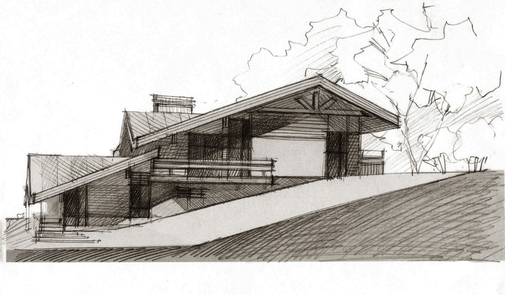 Эскизный проект жилого дома в поселке Волчиха